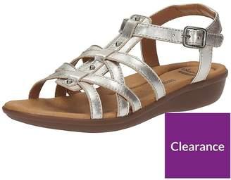 0ffa40f550b at Littlewoods · Clarks Manilla Bonita Gladiator Flat Sandal - Silver