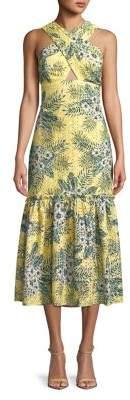 BB Dakota Sarafina Cross-Neck Eyelet Dress