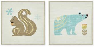 Jla Home Ink+Ivy Kids Woodland Bear & Squirrel 2-Pc. Deco Box Wall Art Set