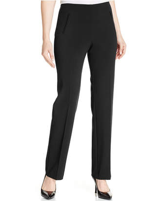 Style&Co. Style & Co Petite Straight-Leg Tummy-Control Pants