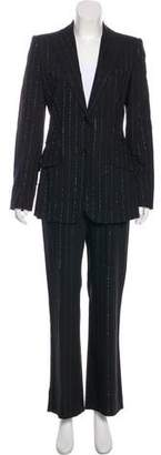 Dolce & Gabbana Virgin Wool Blend Stripe Suit Set