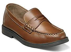 Florsheim Toddler's & Kid's Croquet Penny Jr. Leather Penny Loafers