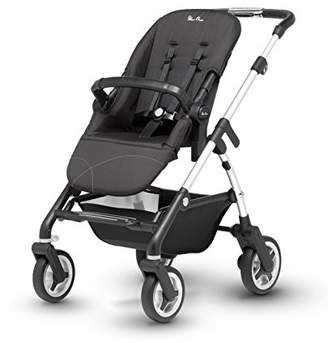 Silver Cross Wayfarer Satin Silver Chassis, Seat Unit and Carrycot