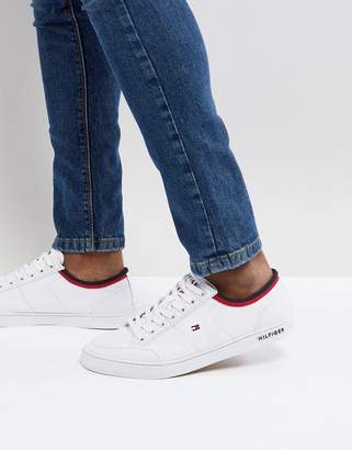 Tommy Hilfiger Core Corporate Canvas Sneakers in White