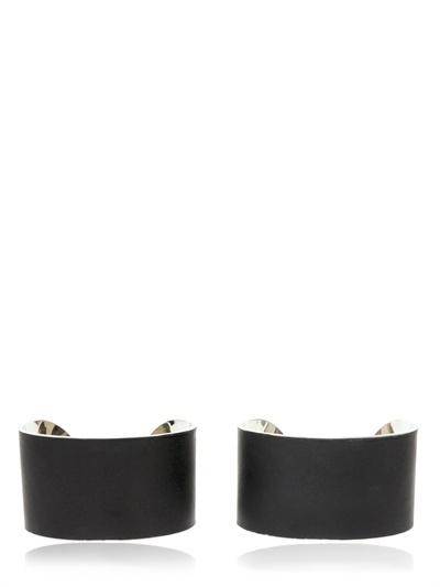 Maison Martin Margiela Leather Brass Cuffs
