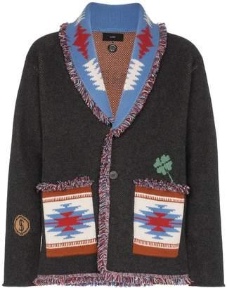 Alanui skeleton embroidered cashmere cardigan