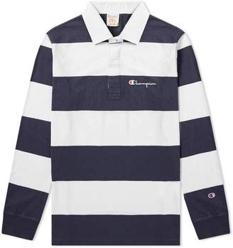Champion Reverse Weave Stripe Rugby Shirt