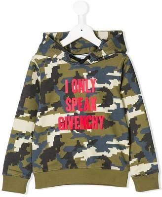 Givenchy Kids camouflage print hooded sweatshirt