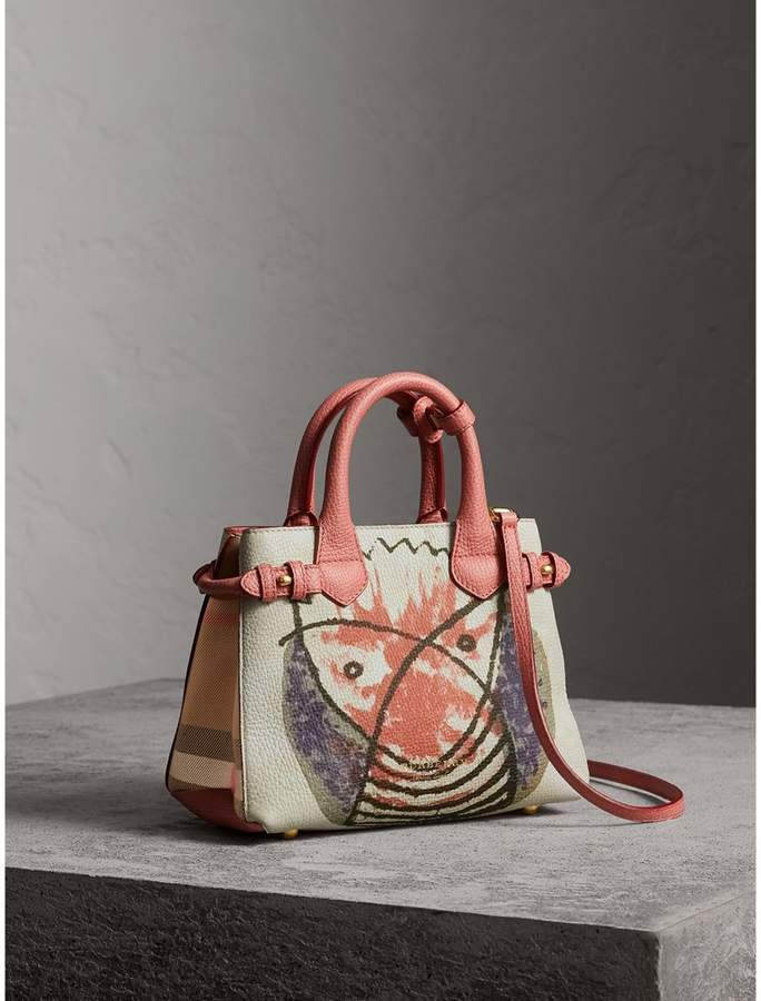 Burberry The Baby Banner in Leather with Pallas Heads Print