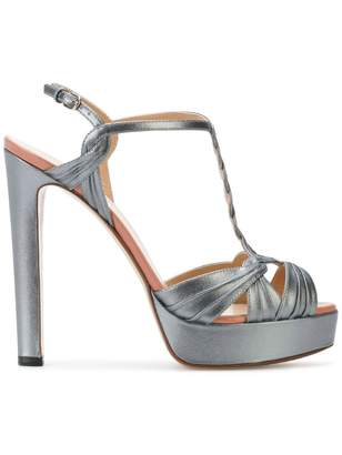 Francesco Russo side buckle platform sandals