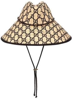 Gucci GG raffia wide-brim hat