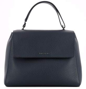 Orciani Blue Leather Handle Bag