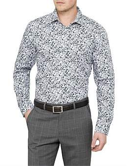 Ted Baker L/S Cotton Floral Print S/Cuff Shirt