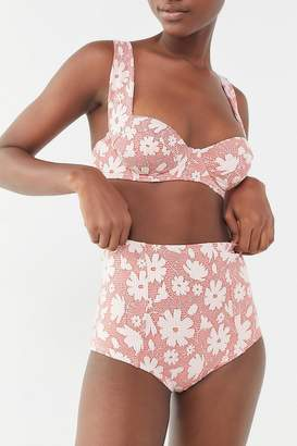 Out From Under Tawny Floral High-Waisted Bikini Bottom