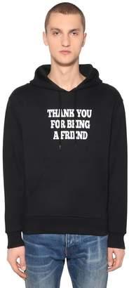 Ami Alexandre Mattiussi Thank You Printed Hooded Sweatshirt