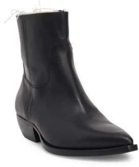 Saint Laurent Theo Volanat Leather Booties
