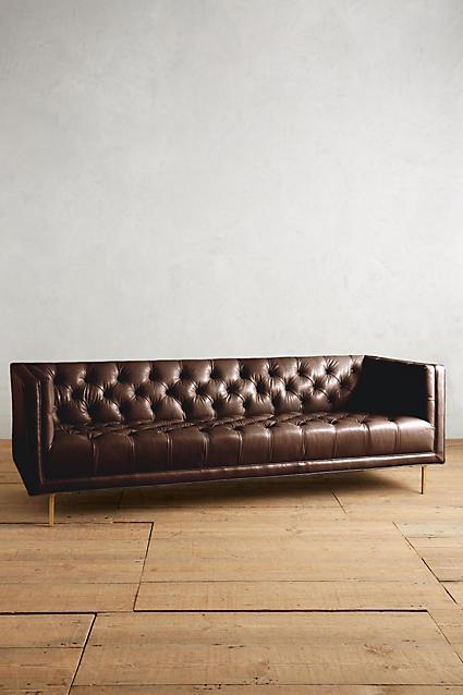 AnthropologieAnthropologie Premium Leather Mina Sofa