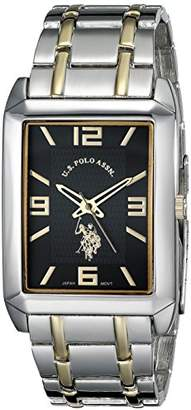 U.S. Polo Assn. Classic Men's USC80004 Two-Tone Rectangular Dial Bracelet Watch