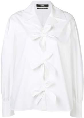 Karl Lagerfeld Paris bow shirt