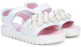 Mi Mi Sol faux pearl embellished sandals