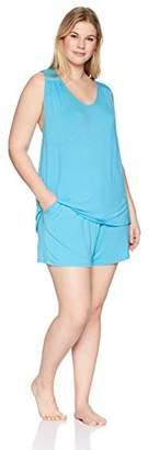 Arabella Women's Plus Size Tank And Short Pajama Set