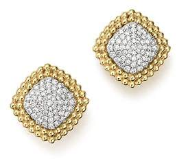 Bloomingdale's Diamond Pavé Square Stud Earrings in 14K Yellow and White Gold, 1.0 ct. t.w. - 100% Exclusive