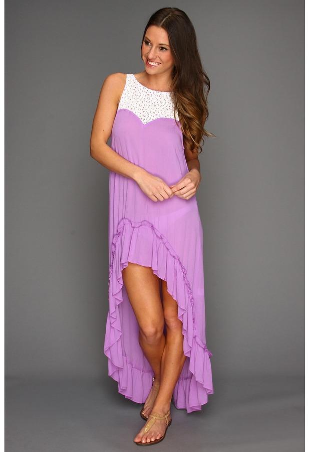 MinkPink Lillian Hi-Lo Maxi Dress (Lilac) - Apparel