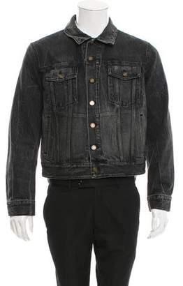 Saint Laurent 2018 Embroidered Denim Jacket w/ Tags