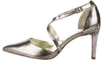 Calvin Klein Metallic Pointed-Toe Pumps
