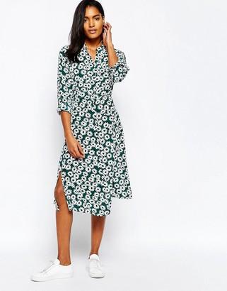 Whistles Midi Dress in Daisy Print Silk $259 thestylecure.com
