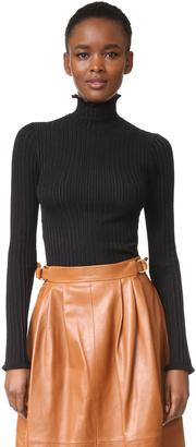 Derek Lam Ruffle Edge Turtleneck Sweater $595 thestylecure.com