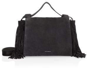 Elena Ghisellini Medium Foxy Fringed Flap Bag