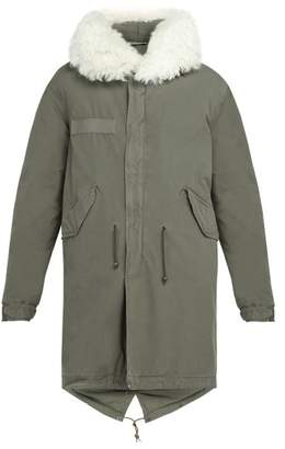 Mr & Mrs Italy Shearling Trimmed Hooded Cotton Parka - Mens - Grey