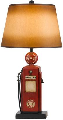 Cal Lighting Calighting 3-Way Nostalgic Gas Pump Resin Table Lamp