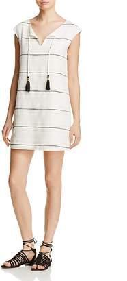 Cooper & Ella Pietra Tasseled Striped Dress $198 thestylecure.com