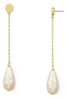 Kate Spade Simulated Pearl Linear Drop Earrings