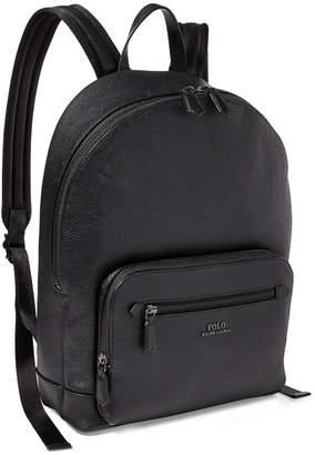 Polo Ralph Lauren Men's Pebbled Leather Backpack