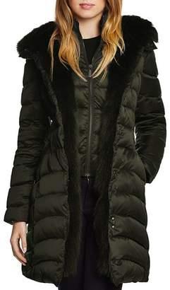 Dawn Levy Jet Setter Fur Trim Coat