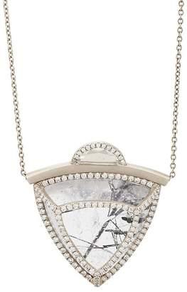 Monique Péan Women's Mixed-Gemstone Caged Pendant Necklace