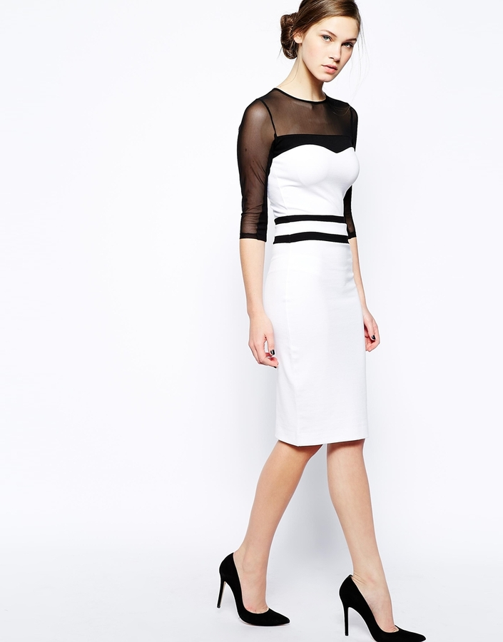 French Connection Champion Dress with Mesh