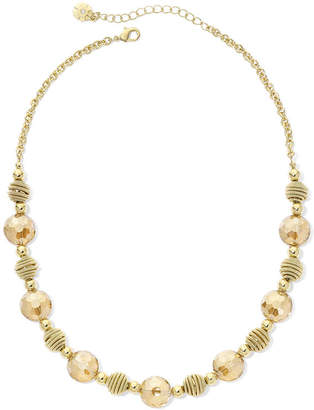 JCPenney MONET JEWELRY Monet Yellow Stone Gold-Tone Collar Necklace