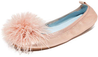 Yosi Samra HITCHED Marry Me Marabou Flats $125 thestylecure.com