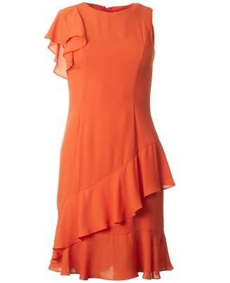 Bourne Maggie Asymetric Frill Dress
