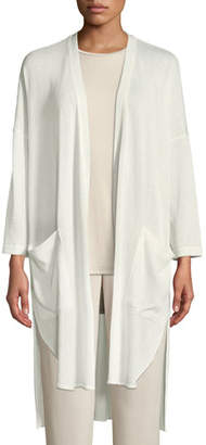 Natori Tao High-Low Topper Cardigan Sweater