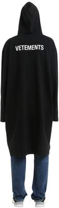 Vetements Oversized Logo Print Jersey Coat
