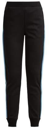 Prada Side Stripe Jersey Track Pants - Womens - Black