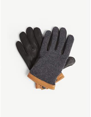 HESTRA Deerskin and wool gloves