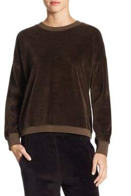 Vince Velour Cotton Sweater