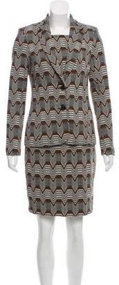 Trina Turk Pattern Dress Suit