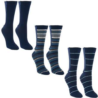Passione Xpandasox Set of 3 Cotton Crew Socks